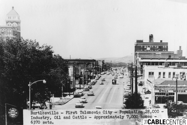 High view of downtown street in Bartlesville, Oklahoma