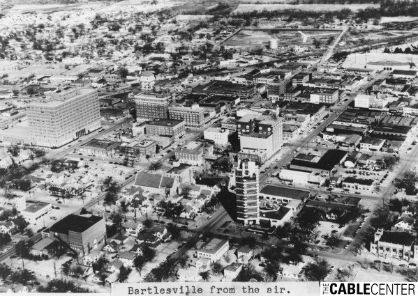 Aerial view of Bartlesville, Oklahoma