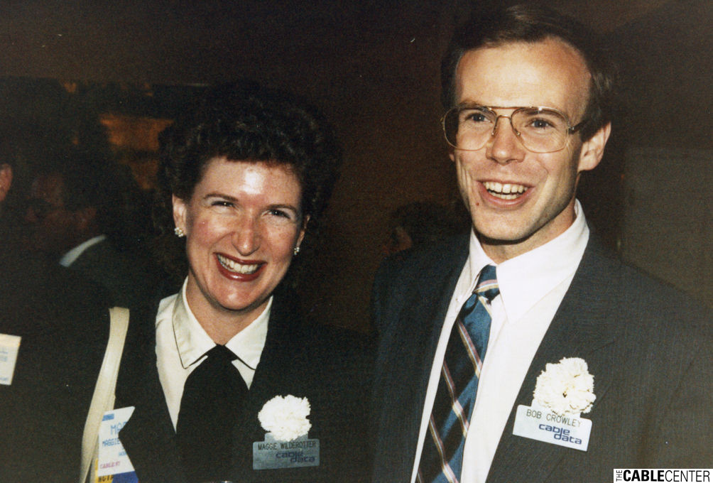 Maggie Wilderotter and Bob Crowley