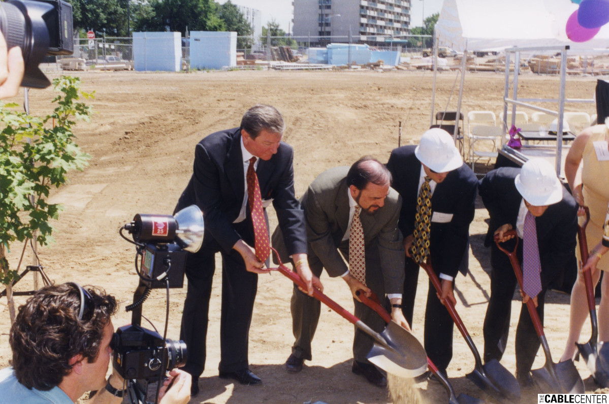 Bill Bresnan and Paul Kagan at The Cable Center groundbreaking