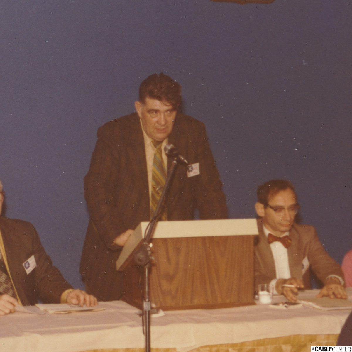 Bob Clark, Owen Hannigan, William Kenny at 1973 NECTA convention