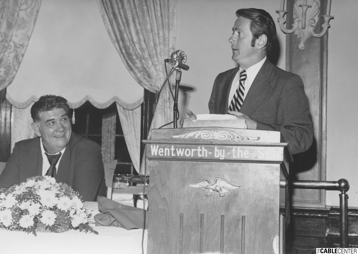 William Kenny at New England Cable Television Association meeting