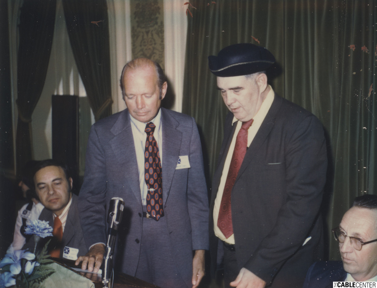George Sisson and William Kenny at New England Cable Television Association meeting