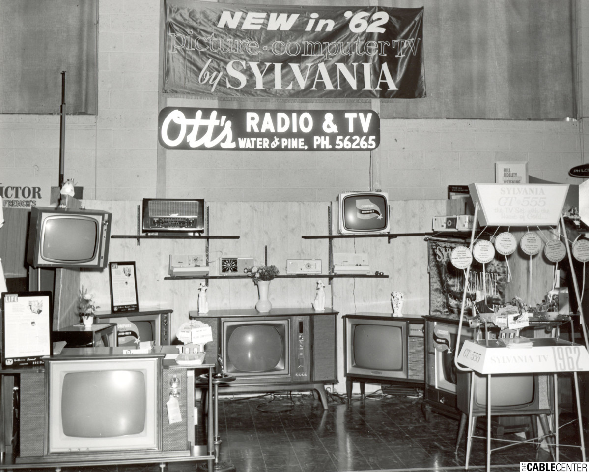 Ott's Radio & TV trade show booth