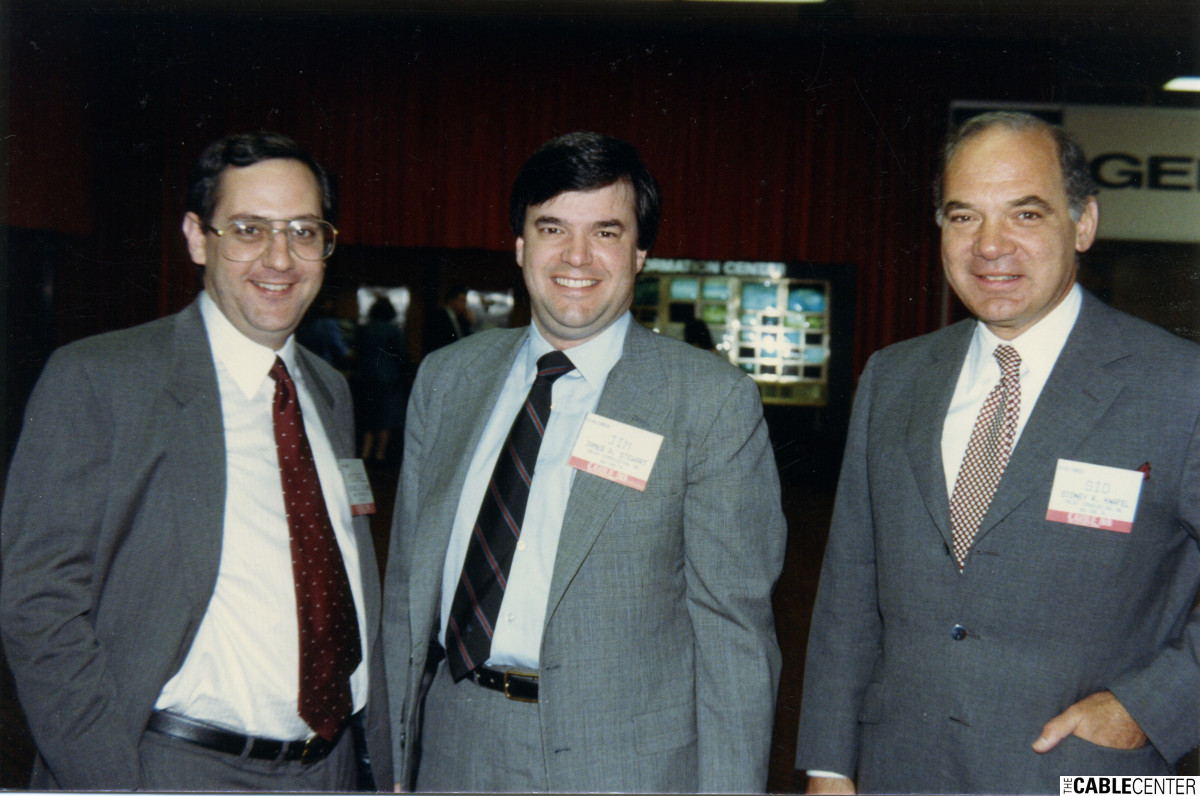 Michael Willner, James Stewart, Sidney Knafel 1988