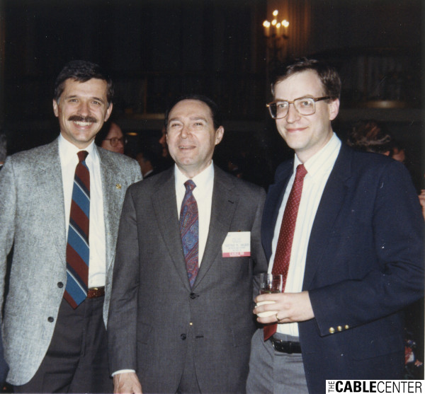 Tom Wheeler and Gus Hauser at the 1988 Cable Show