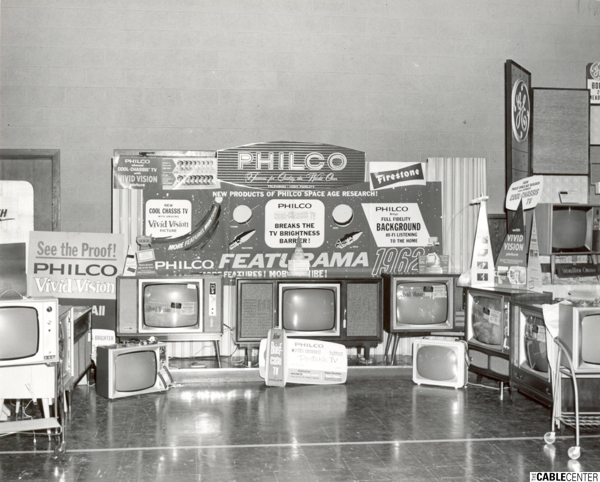 Trade show booth, Philco products