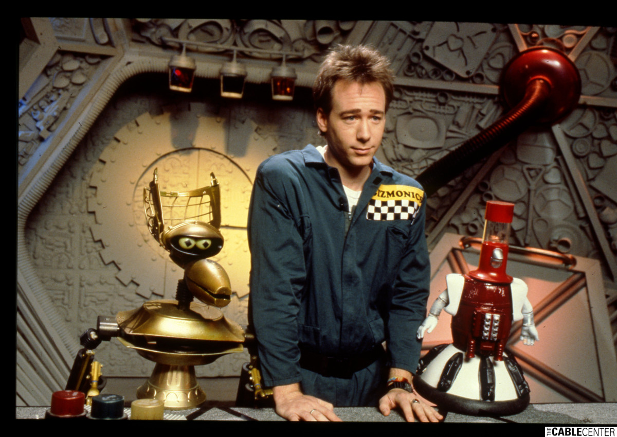 "Joel Hodgson as Joel Robinson on ""Mystery Science Theater 3000"" on The Comedy Channel"