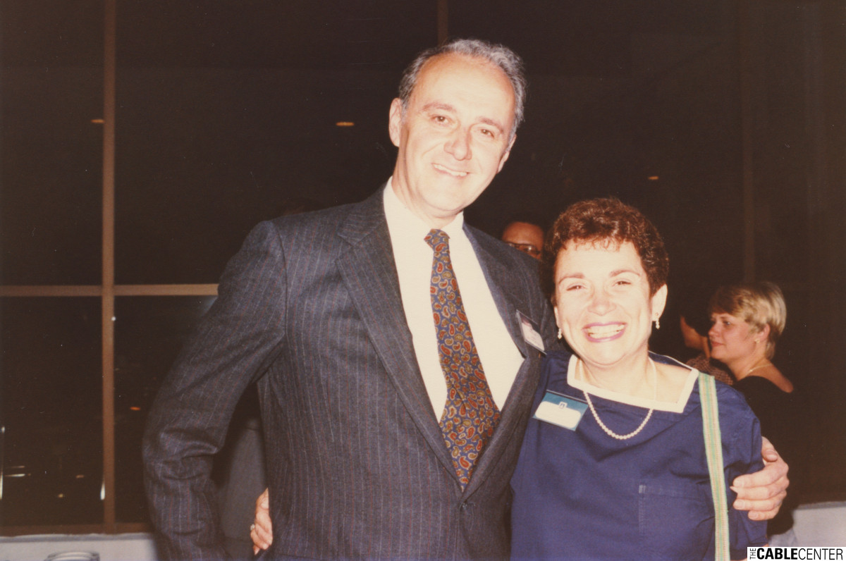 Leonard and Claire Tow, 1984.
