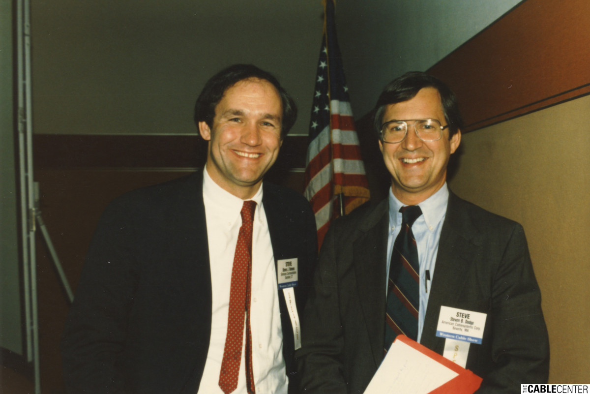 Steve Simms and Steve Dodge, 1984.