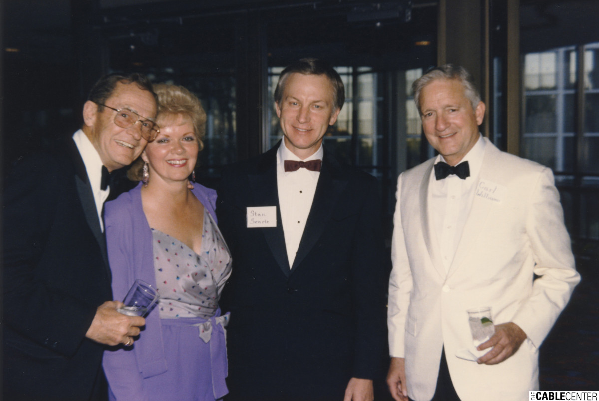 Frank Thompson, Lorna and Stan Searle, Carl Williams, 1984.