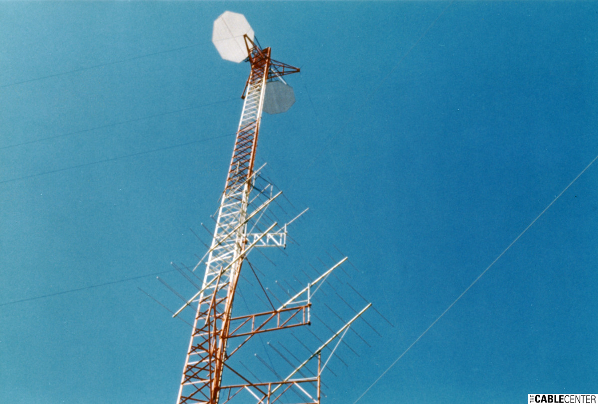 Cablevision microwave antenna tower