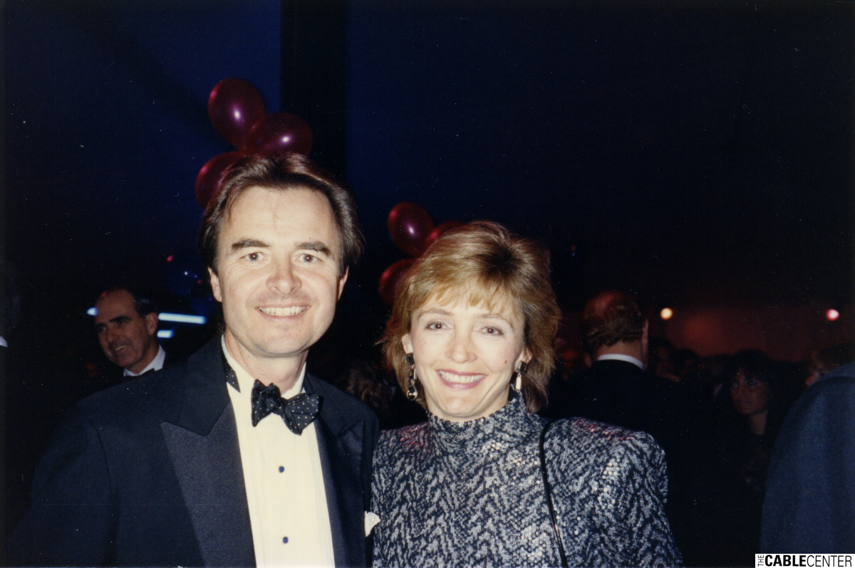 Bob and Liane Clasen at the 1989 CableACE Awards