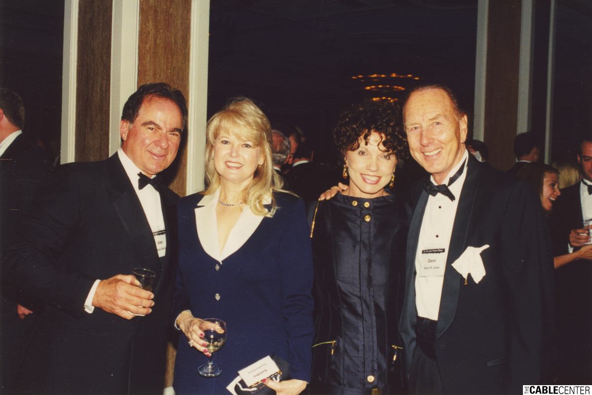 Alan and Sandra Gerry, Dianne Eddolls, and Glenn Jones at the 2000 Cable Television Pioneers dinner and Cable Hall of Fame ceremony