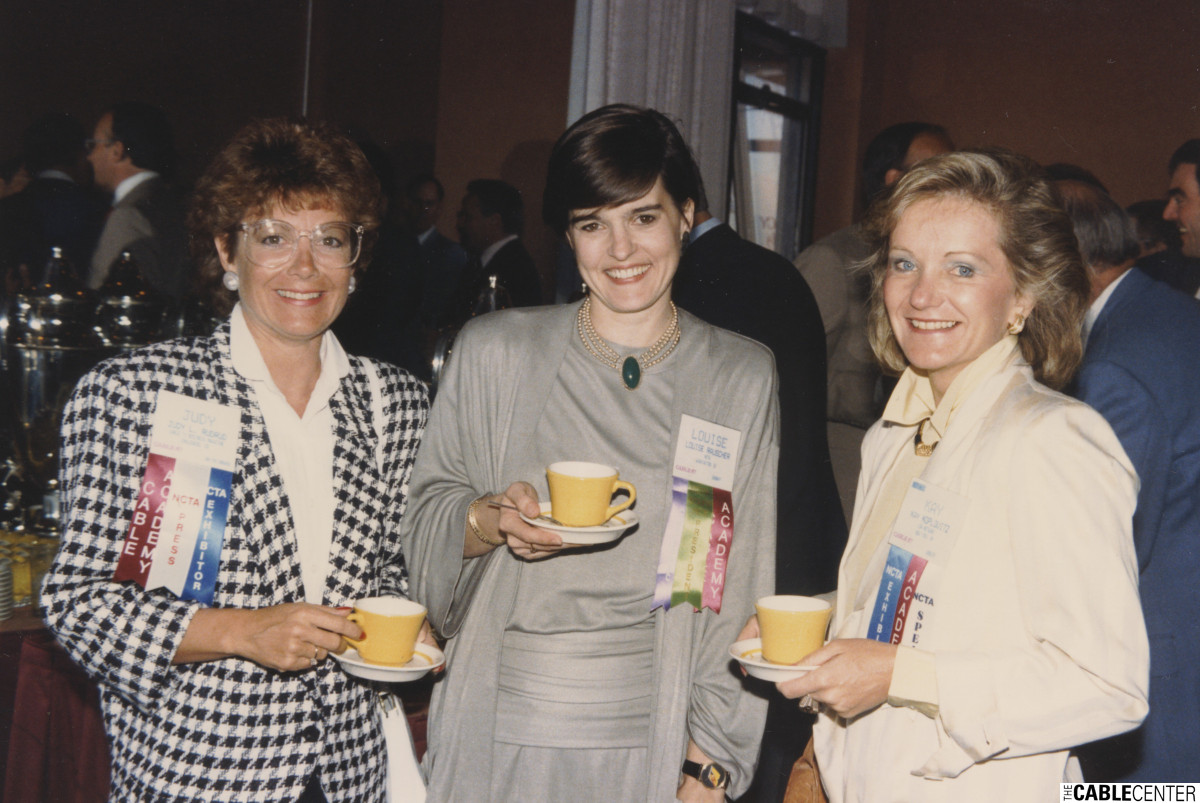 Judy Rudrud, Louise Mooney, Kay Koplovitz