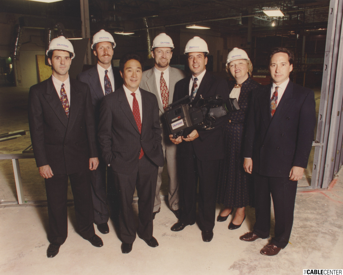 ChicagoLand Television executives in studio under construction