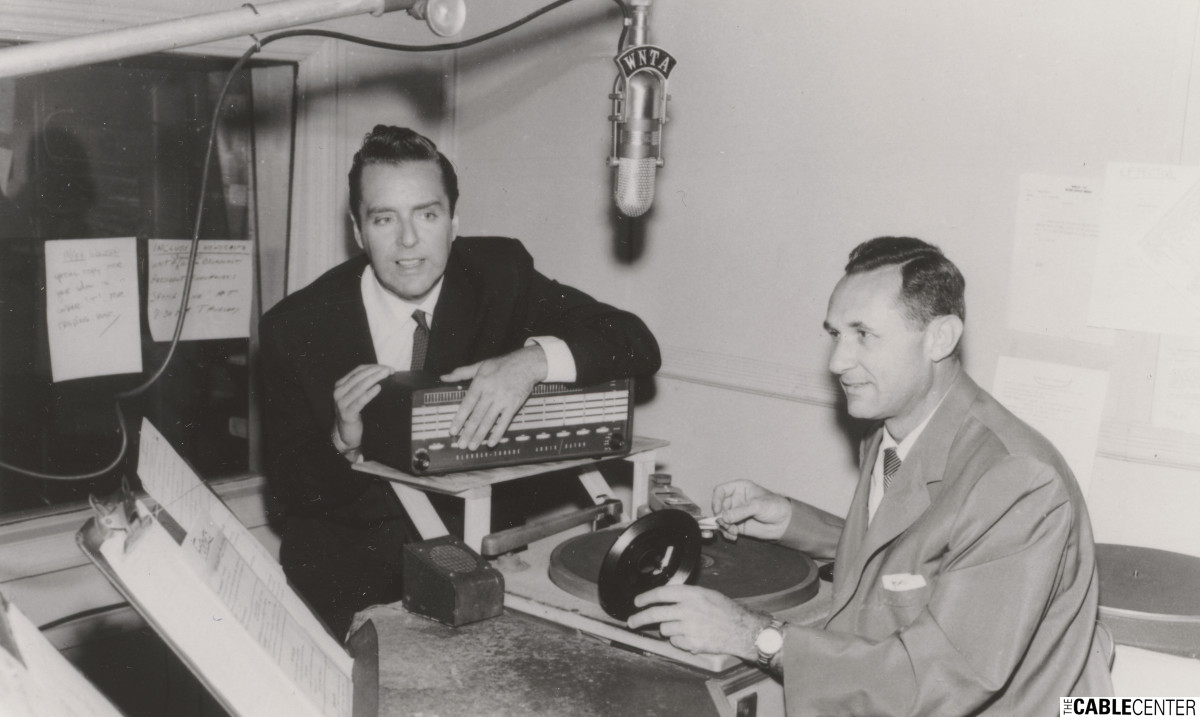 Art Ford and Paul Brenner of WNTA radio in New York