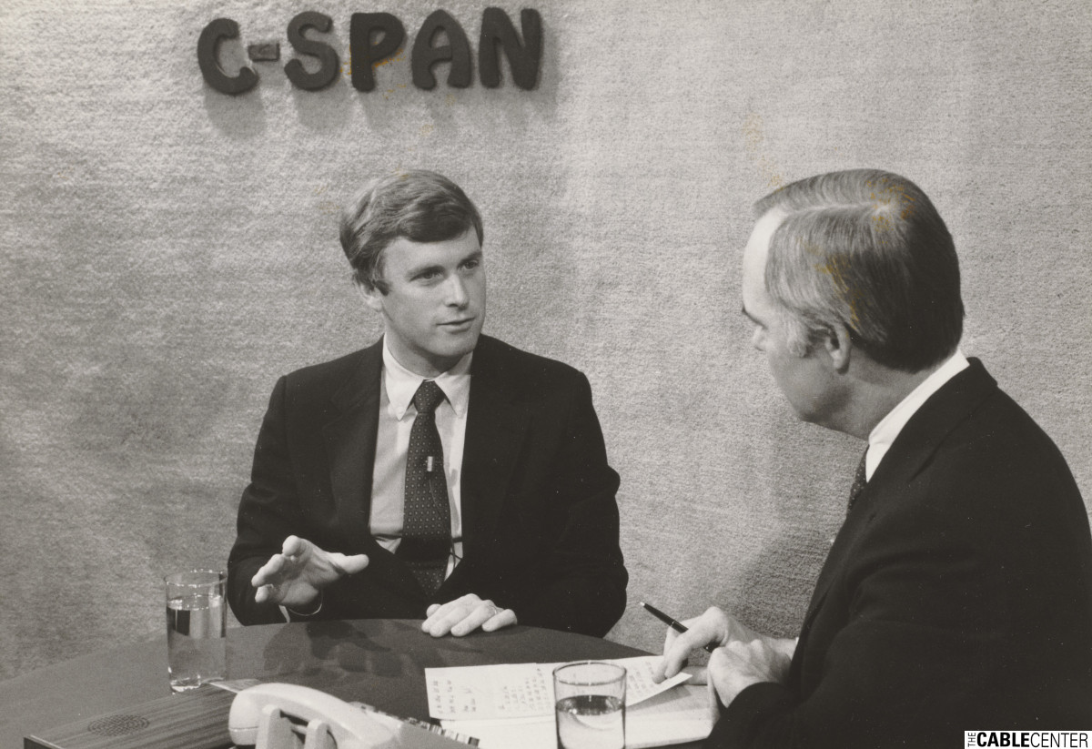 Dan Quayle being interviewd by Brian Lamb on C-SPAN