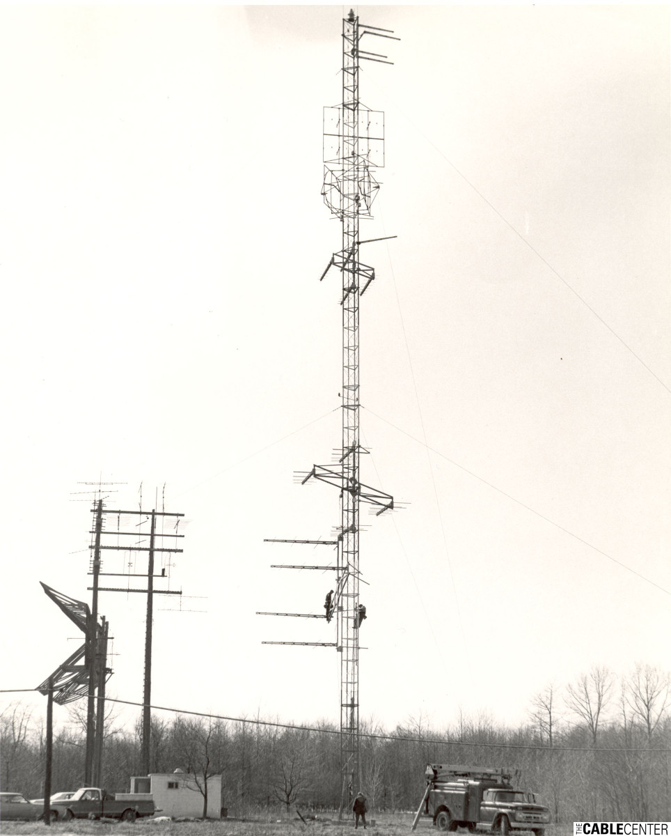 Construction of antenna tower, Meadville Master Antenna