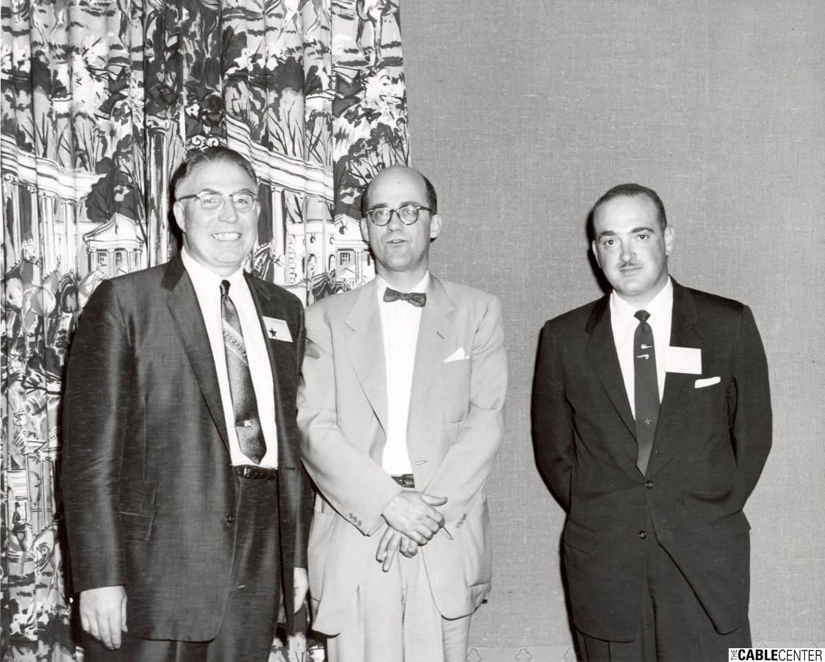 George Barco, Mr. Kennedy, and Henry Diambra, 1957