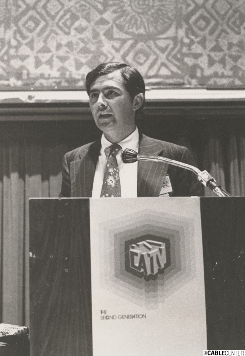 Amos Hostetter speaking at 1971 NCTA convention