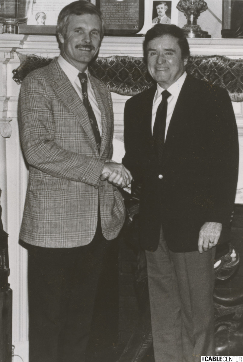 Ted Turner and Mike Douglas