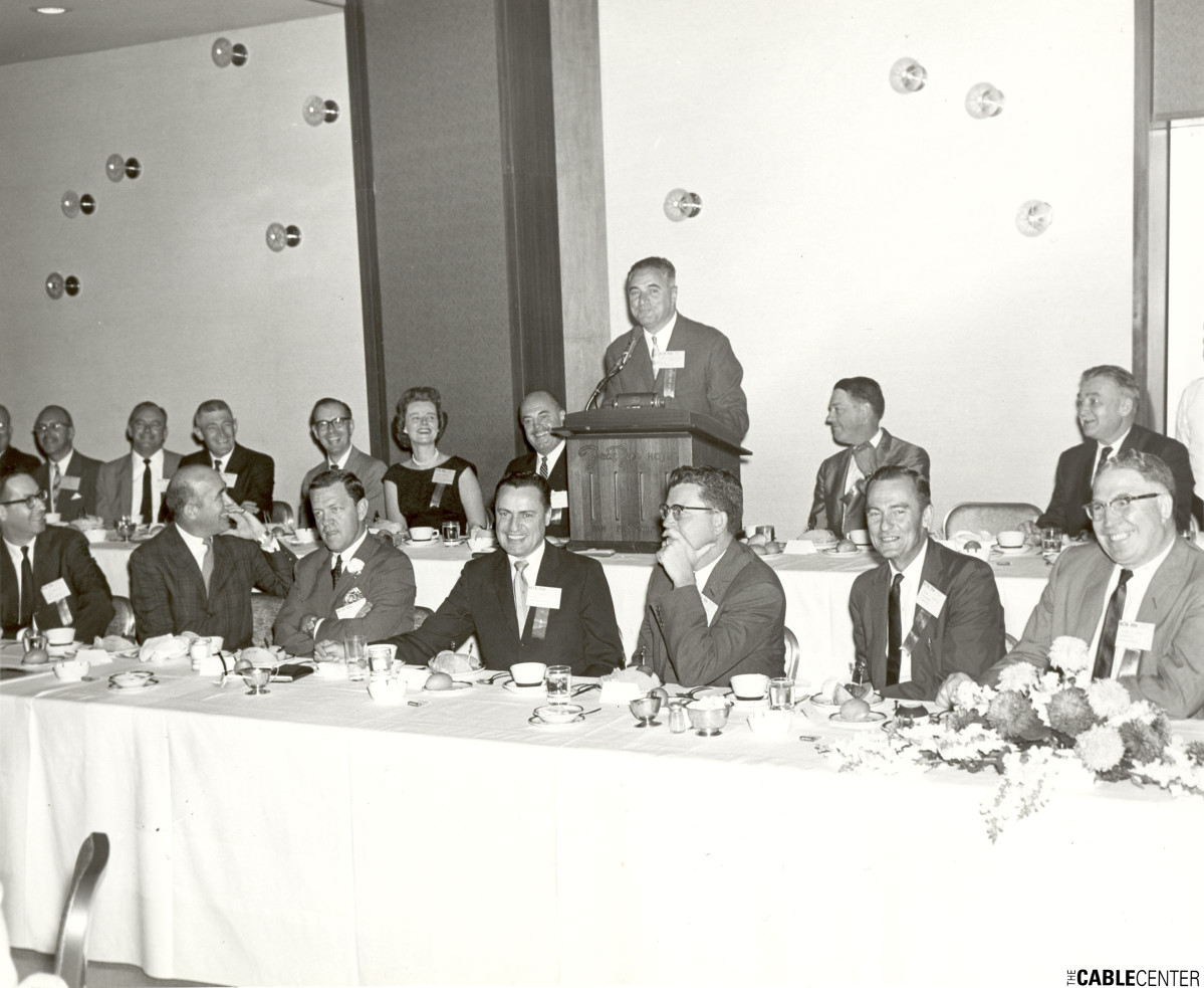 National Community Television Association meeting, head tables, San Francisco