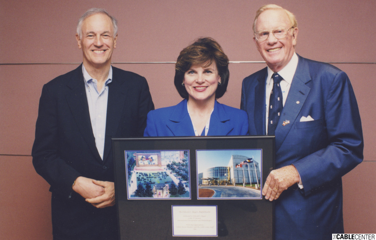 Phil Lind, Beverly O'Brien, and Ted Rogers