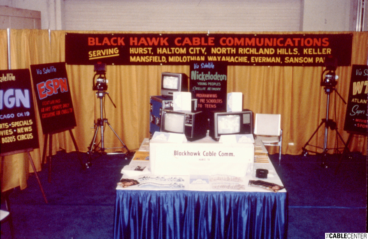 Display table at Black Hawk Cable Communications telethon