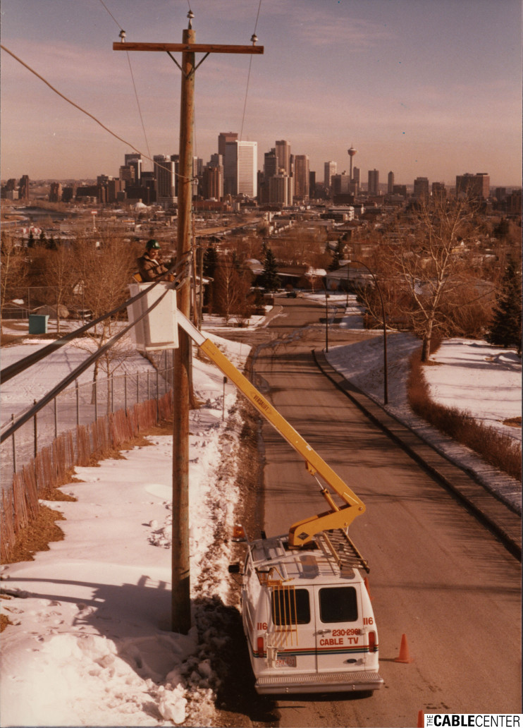 Cable system construction in Calgary