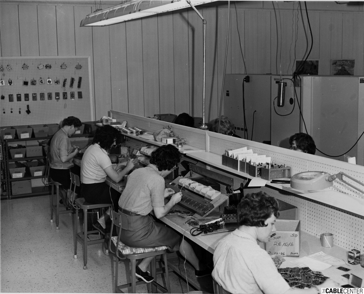 C-COR Electronics production line