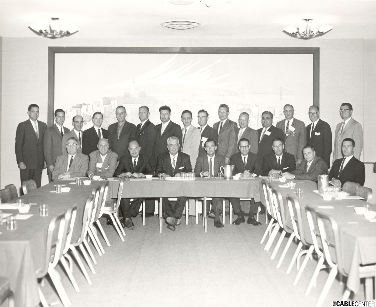 National Community Television Association meeting, group photo, San Francisco