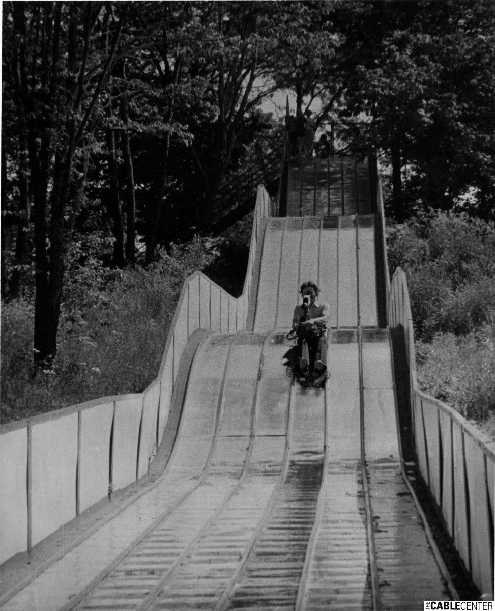 Filming on slide