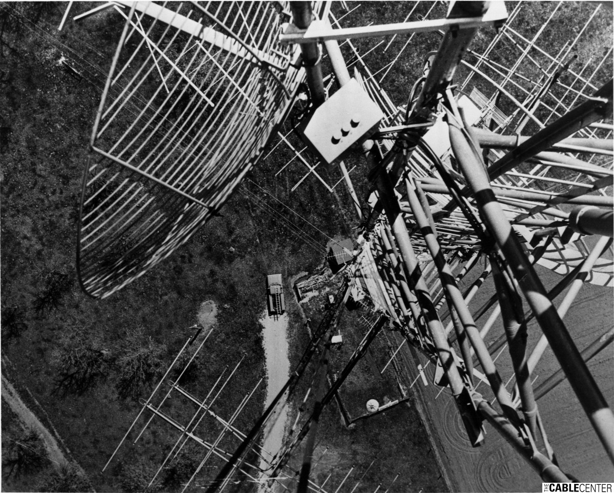 View straight down from antenna tower