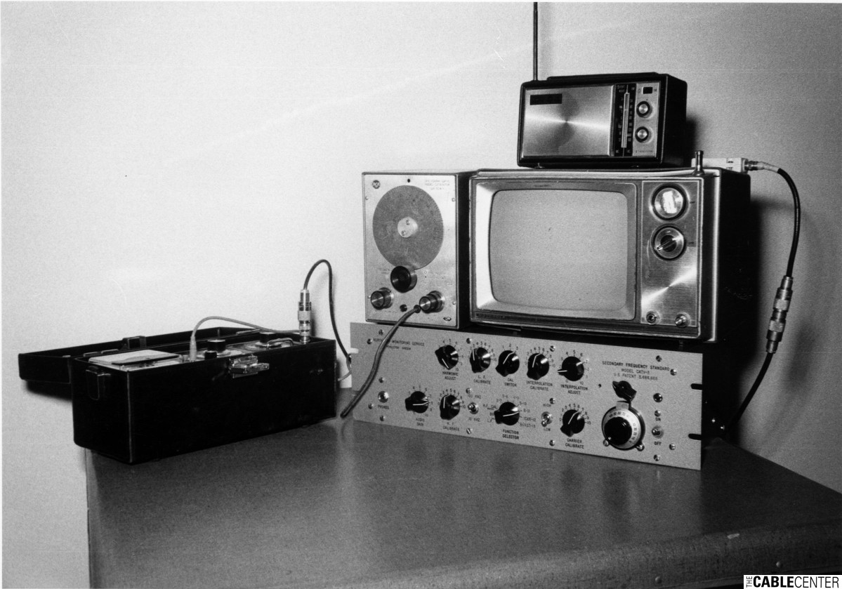 Northern Monitoring Service Model CATV-3 amplifier and test equipment set-up