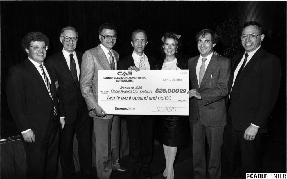 Cabletelevision Advertising Bureau 1986 awards competition