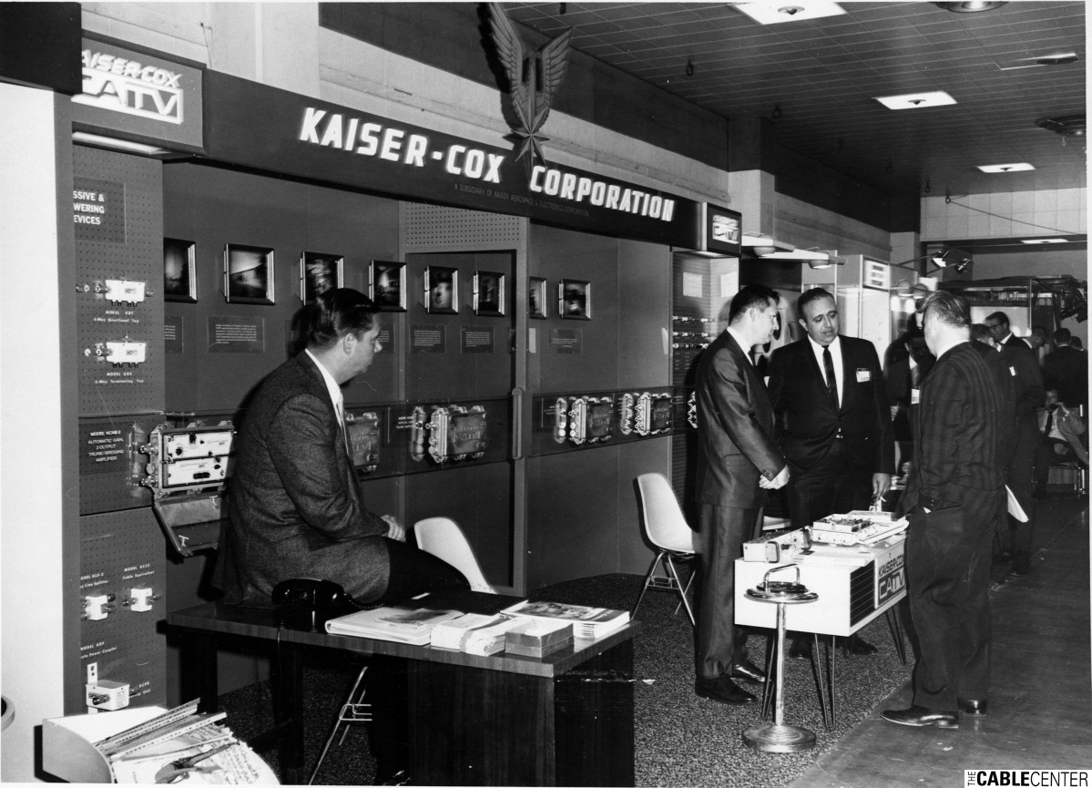 Kaiser-Cox Corporation booth at 1967 National Association of Broadcasters convention