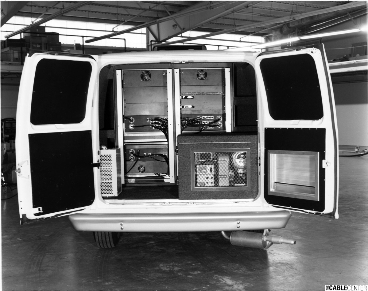 Mobile production van interior