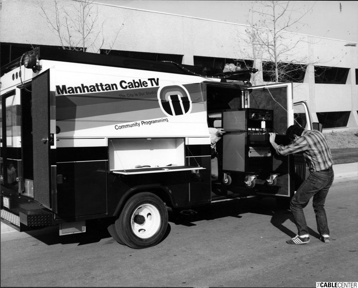 Manhattan Cable TV production truck
