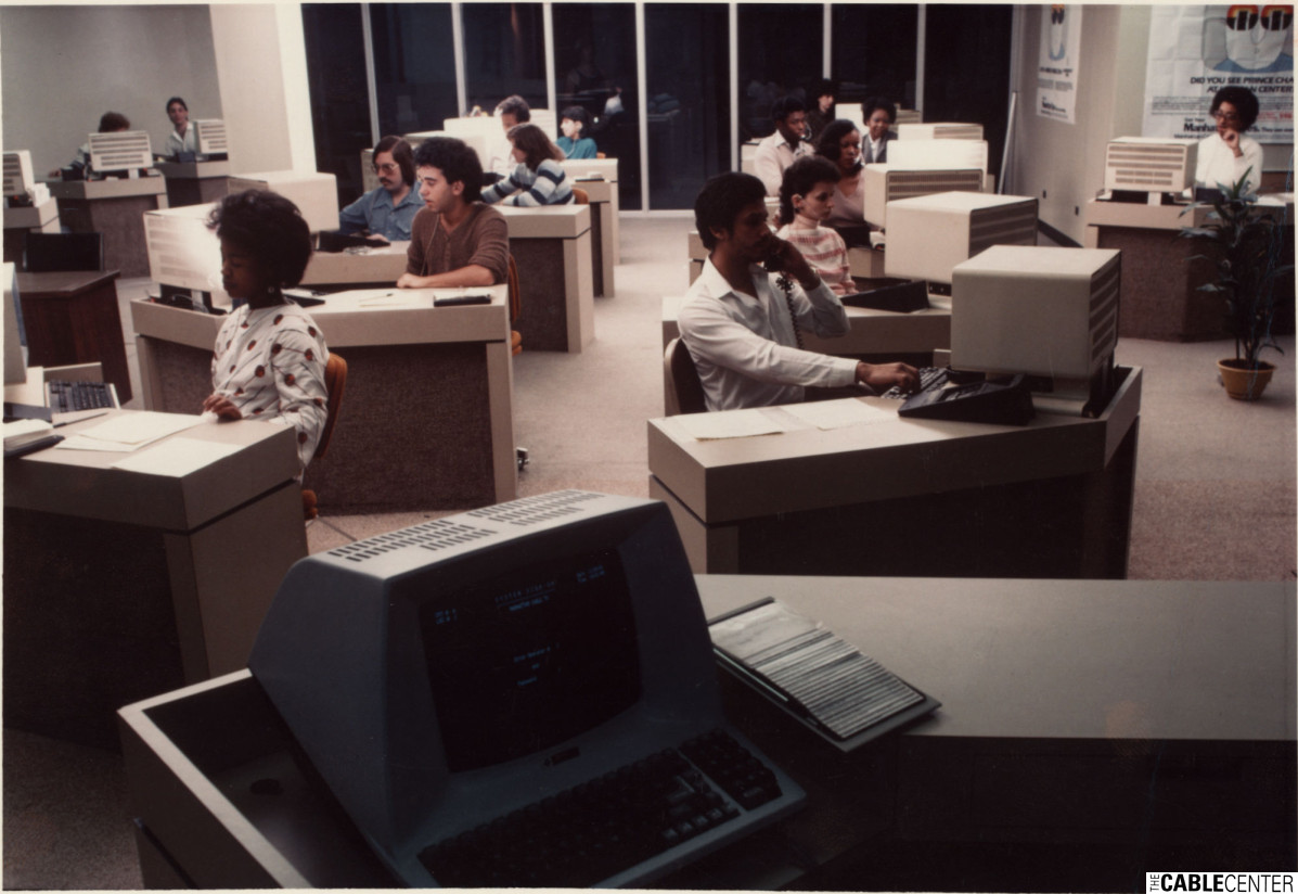 Manhattan Cable TV call center interior