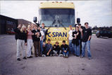 C-SPAN bus at Muscatine, Iowa, High School