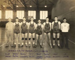 Bill Daniels as member of the New Mexico Military Institute basketball team