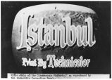 "Title strip of movie ""Istanbul"" on television screen"