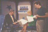 Les Read, Cyndy Garvey and Sam Howe on set of Cable Sneak FreeView in Oklahoma City, Oklahoma.