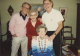 Bill Daniels with mother and siblings