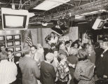 "Students and audience mingle after the CNN/Cox production ""Student's View '92: The Presidency"""