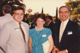 Edward Horowitz, left, with unidentified man and woman, 1984.