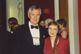 Amos Hostetter and Ellen Gibbs at the 2000 Cable Television Pioneers dinner and Cable Hall of Fame ceremony