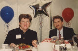 Delaine Eastin and Trey Smith at California Cable Television Association meeting