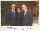 President George W. Bush, Dianne Eddolls, and Glenn Jones